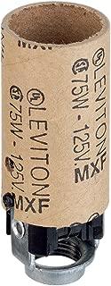 Keyless Leviton 10028 Candelabra Base White Incandescent Urea Lampholder One-Piece