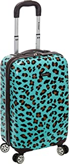 20 Inch Carry On Skin, Blue Leopard, One Size