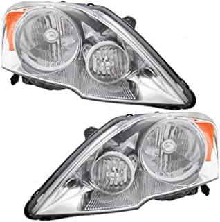 Headlights Headlamps Driver and Passenger Replacements for 07-11 Honda CR-V 33151SWAA01 33101SWAA01