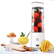 Portable Blender, Kacsoo M610 Mini Blender Personal Smoothie Fruit Mixer Juicer Cup, Single Serve, Lightweight USB Rechargeable Travel Blender for Shakes and Smoothies, with 5200 mAh Battery (White)