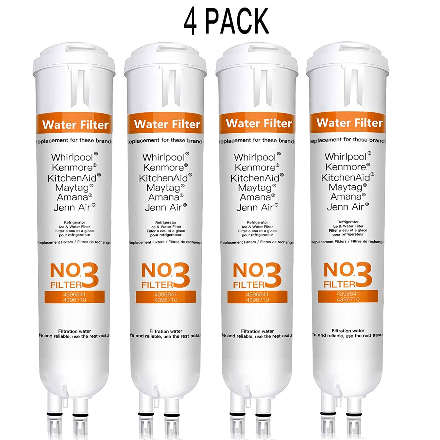 BOYTY Refrigerator Water Filter 9030 Replacement Ken-More 46/9083 9083 46/9030 9030 46/9020 Refrigerator Water Filter White(4 Pack)