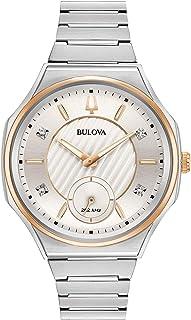 Bulova - Reloj Analógico para Mujer de Cuarzo con Correa en Acero Inoxidable 98P182