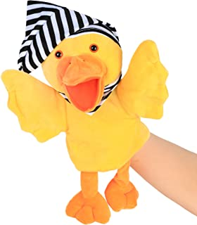 Cuteoy Plush Duck Hand Puppet Farm Animals Stuffed Toy Open Movable Mouth for Creative for Imaginative Play Storytelling T...