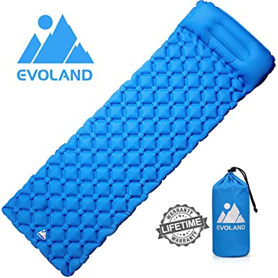 EVOLAND Ultralight Sleeping Pad for Camping, In...