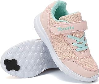 Torotto - Zapatillas de correr para niños y niñas, deportivas, transpirables, ultraligeras, con cierre de velcro, para int...