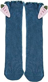 Black Temptation, La niña de la media de punto alto de rodilla de algodón Calcetines de la princesa, Azul