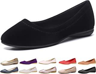 Flats Shoes Women– Slip-on Ballet Comfort Walking Classic Round Toe Shoes