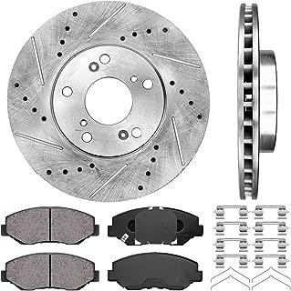 Callahan CDS02035 FRONT 282 mm Premium D/S 5 Lug [2] Brake Rotors + [4] Ceramic Pads + Hardware [ for Acura Honda ]