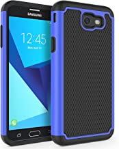 Case for Samsung Galaxy J7 V 2017 (1st Gen)/ Galaxy J7 2017 / Galaxy J7 Prime/Galaxy J7 Perx/Galaxy J7 Sky Pro/Galaxy Halo, SYONER [Shockproof] Defender Phone Case Cover [Blue]