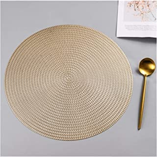 Set De Table 38cm rond boîamle de table de table de cuisine de table de cuisine Tapis d'isolation anti-échappement Hôtel R...