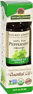 Natures Answer Essential Oil - Organic - Peppermint - .5 oz-95%+ Organic-Gluten Free - Yeast Free -