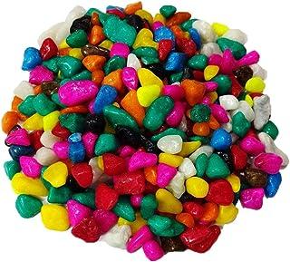 DEVU PARBAT ENTERPRISE Devu Parbat Colour Stone Glossy and Decorative Pebbles (Total 900 g, Multicolour) - Pack of 2