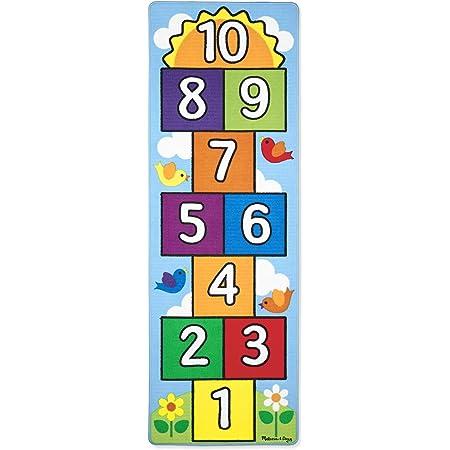 10 Cases Dessous caoutchout/é Relaxdays 10032680 Tapis de marelle 1 unit/é 180 x 70 cm /à Poils Courts Multicolore Jeu /éducatif