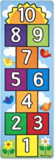 Melissa & Doug Hop & Count Hopscotch Rug (Play Space & Room Decor, Sturdy Woven Floor Rug, Durable Materials, Skid-Proof Backing, Great Gift for Girls and Boys - Best for 3, 4, 5, 6, and 7 Year Olds)