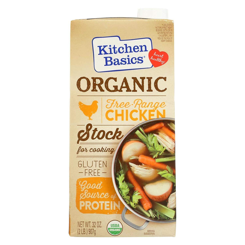 Kitchen Basics, Stock Chicken Free Range Organic, 32 Ounce