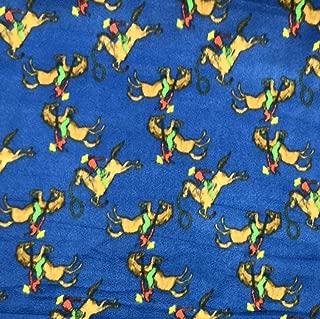 Blue Ride Em Cowboys Fleece Fabric - 60