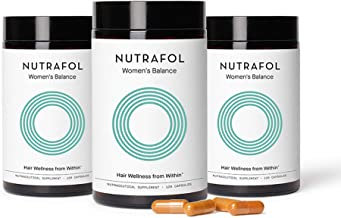 Nutrafol Women's Balance Hair Growth Supplement for Thicker, Stronger Hair Peri and Post Menopause (4 Capsules Per Day - 3...