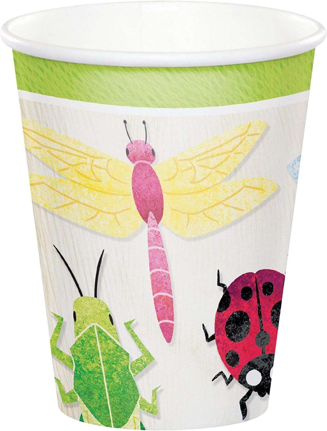 5 ☆ popular Club Pack of Chicago Mall 96 White Birthday Paper Bugs Disposable Drinki Cups