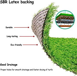 """Deseados Artificial Grass Floor Mat Synthetic Grass Doormat Fake Grass Welcome Door Mat for Entryway Kitchen Mat Pet Turf for Dog, 18"""" X 24"""