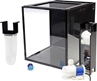 Innovative Marine Nuvo Fusion PRO 10 Gallon AIO (All-in-one) Aquarium with Mighty Jet DC Return Pump, Custom Caddy (Media Included), Filter Sock, Leveling Mat, Assembled Mesh Screen Cover, MicroMag