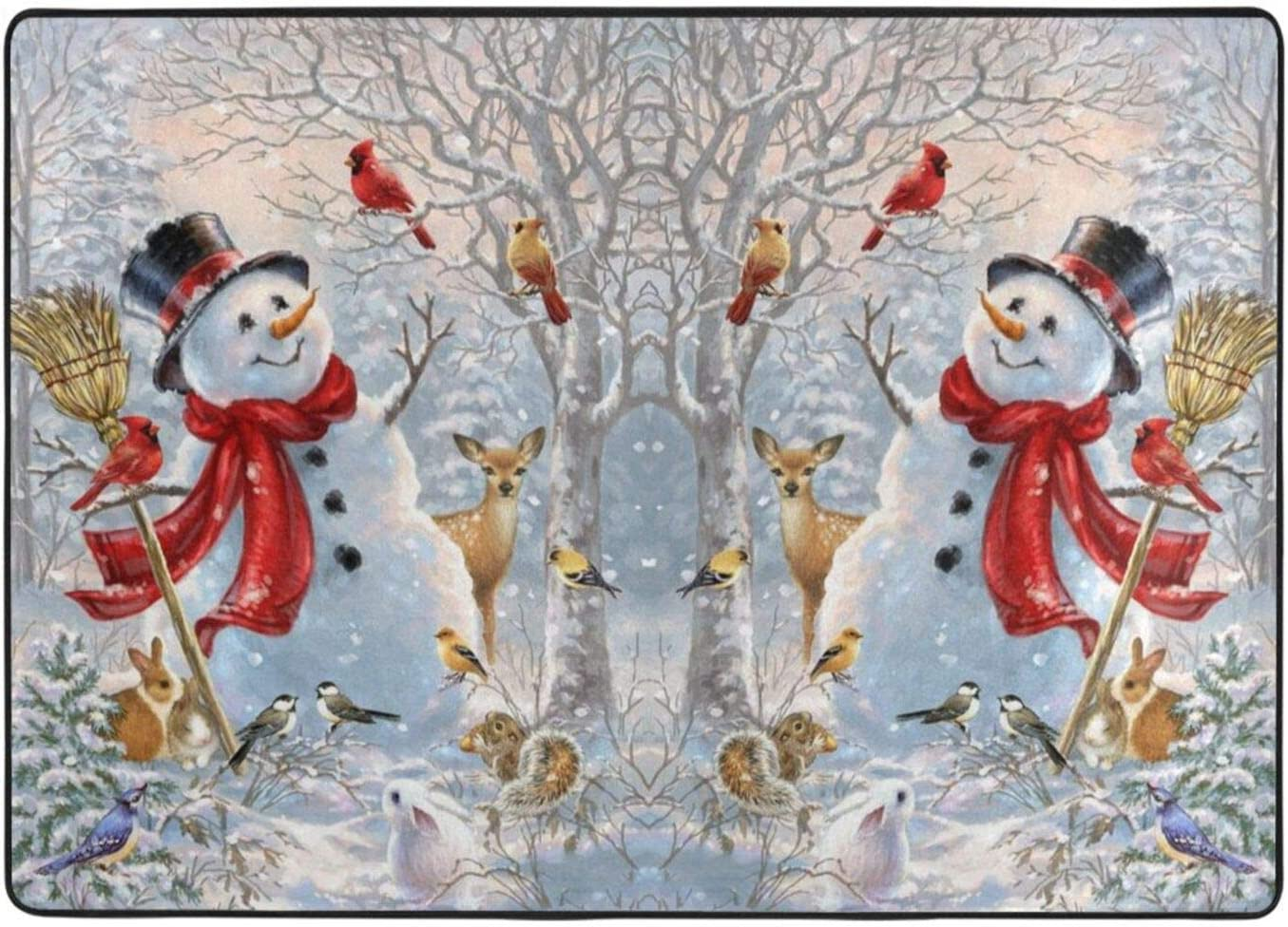 Snowman Christmas Fluffy Living Room Ranking TOP17 Carpets 60 Carpet Inch X New mail order 84