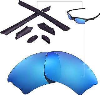 bef9adb0d05e Walleva Replacement Lenses Or Lenses Rubber Kit for Oakley Half Jacket XLJ  Sunglasses - 53