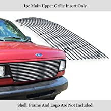 APS Compatible with 1992-2007 Ford Econoline Van Main Upper Stainless Steel Polished Chrome 8x6 Horizontal Billet Grille Insert F85020S