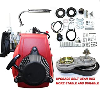WUPYI 49cc 4 stroke Engine Motor Kit,Gas Petrol Motorized Bicycle Cycle Engine Complete Kit for 26