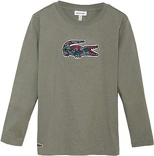 Lacoste Camouflage Crocodile Cotton T-Shirt Khaki