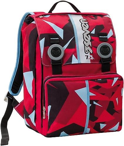 Sac à dos extensible SEVEN - JOG - noir rouge - avec AIRPAD SYSTEM - école et loisirs 28 litres nouveau