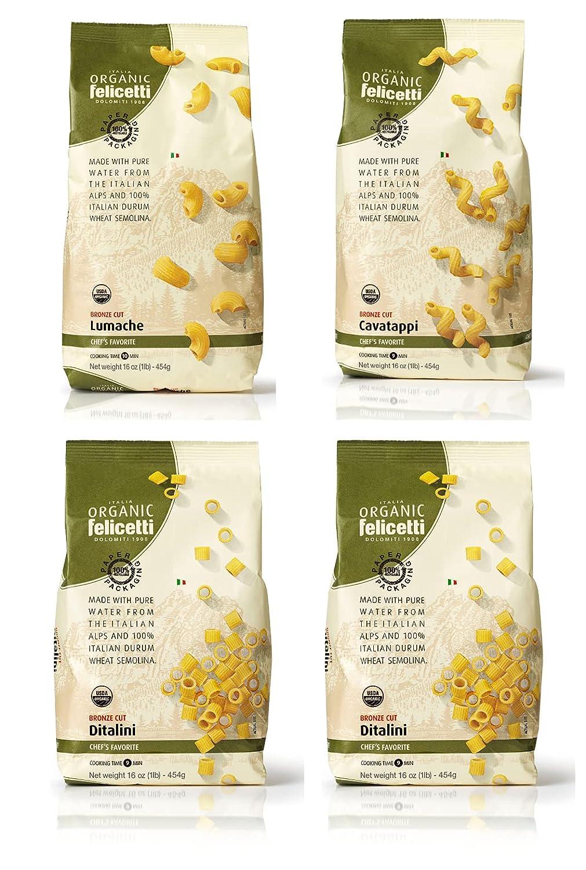 security Organic Felicetti Pasta Bundle Discount mail order 4 Italian Dita Pack Non-GMO
