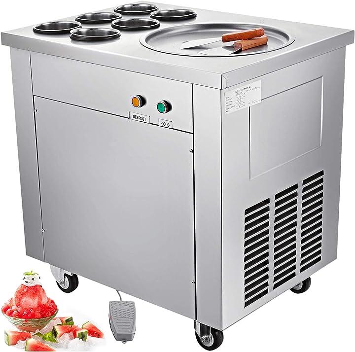 Macchina gelato professionale 740w,creatore di gelato in acciaio inox, 220v B08CZT6P4G vevor