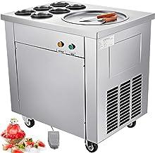 VEVOR Machine À La Glace Yogourt Fritée CBJ-1 * 6, Crème Glacée en acier inoxydable 740W, avec 6 cylindres peut faire face...