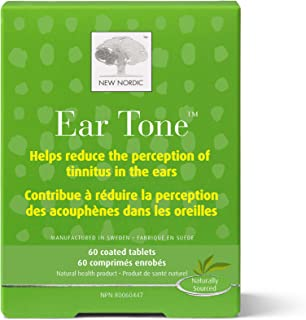 New Nordic Ear Tone, 60 Tablets with Gingko Biloba and Magnesium, Ear Ringing Relief and Hearing Support