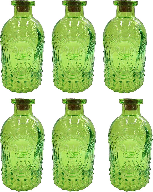 Decorative Bottle Glass Bottle 6 Piece Cork Las Eng Cork Jars Deco Apotheke Bottle Liquor Bottle Apothecary Glass Vintage Glass Green 5 Pcs Amazon Co Uk Kitchen Home
