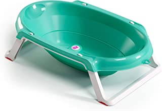 OKBABY Onda Slim Folding Baby Bath with support post, Aqua