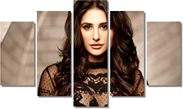 Nargis Fakhri Wall Art Canvas Framed Print 5 pieces Home Decor Ready to Hang