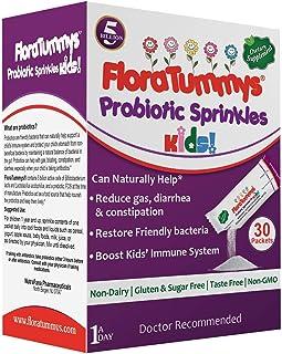 FloraTummys Probiotic Sprinkles for Kids: 30 Taste-Free, Probiotic Powder Packets, Free of Food Allergens, Dairy Free, Glu...