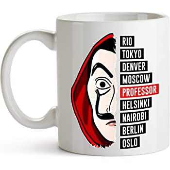 custom-cases Taza de cerámica La Casa de Papel Serie TV Netflix Ideal para Regalo: Amazon.es: Hogar