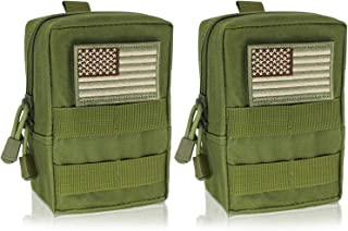 YDA Molle Pouch 2 Pack Tactical EDC Pouch Organizer for Tactical Backpack