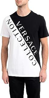 Collection Men's Black& White Graphic Crewneck T-Shirt Sz US S IT 48