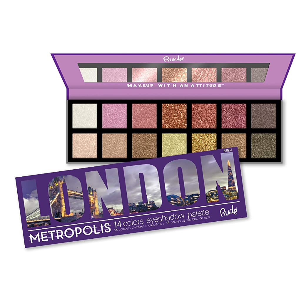 質素な機関セッション(6 Pack) RUDE Metropolis 14 Color Eyeshadow Palette - London (並行輸入品)