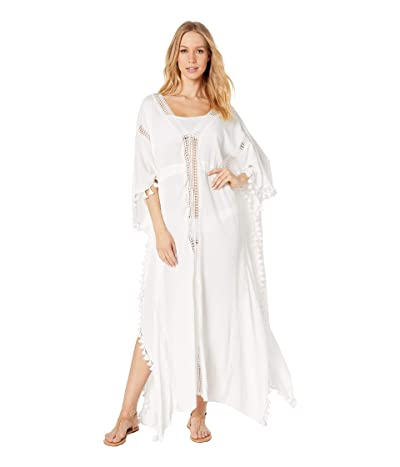 Michael Stars Farrah Tassel and Lace Cover-Up (White) Women
