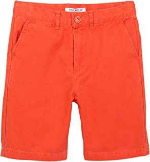 Isaac Mizrahi Boy's Slim Fit Flat Front Adjustable Waist 100% Cotton Shorts- Colors