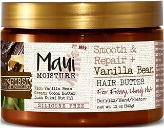 Maui Moisture Smooth & Repair Vanilla Bean Hair Butter 12 Ounce (354ml) (2 Pack)
