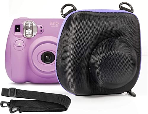 popular Ingo Protective Case for Fujifilm Mini 9, Mini 8, Mini 7s, Mini7; Instant outlet online sale Camera Polaroid PIC-300 Instant Film Camera, Free Neck Strap, Easy in & lowest Out for use, Purple Contrast Zip online sale