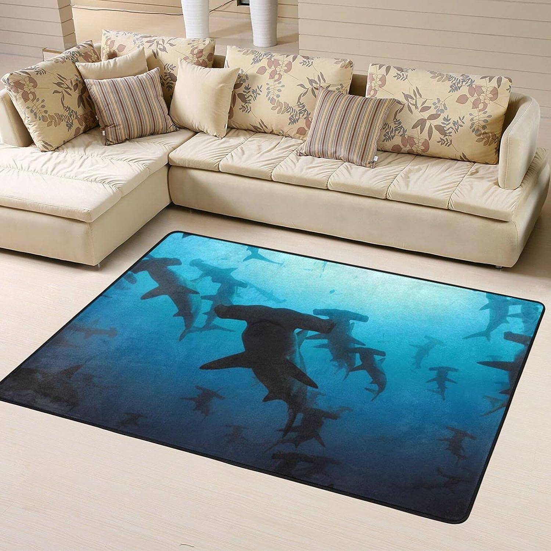 Hammerhead Sharks Soft Area Ranking TOP1 Rugs Living Nippon regular agency Room for Shaggy Bedroom