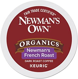 Newman's Own Organic French Roast Keurig Single-Serve K-Cup Pods, Dark Roast Coffee, 96 Count