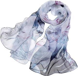 44b9abaf8 LD Foulard Donna 100% Seta Sciarpa Elegante Affascinante Ipoallergenico  Regalo (Stili multipli & Più
