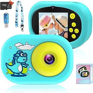Appareil Photo pour Enfants, Numérique Caméra pour Enfant Caméscope avec Carte mémoire 32G Écran HD de 2.4 Pouces 1080P Ap...